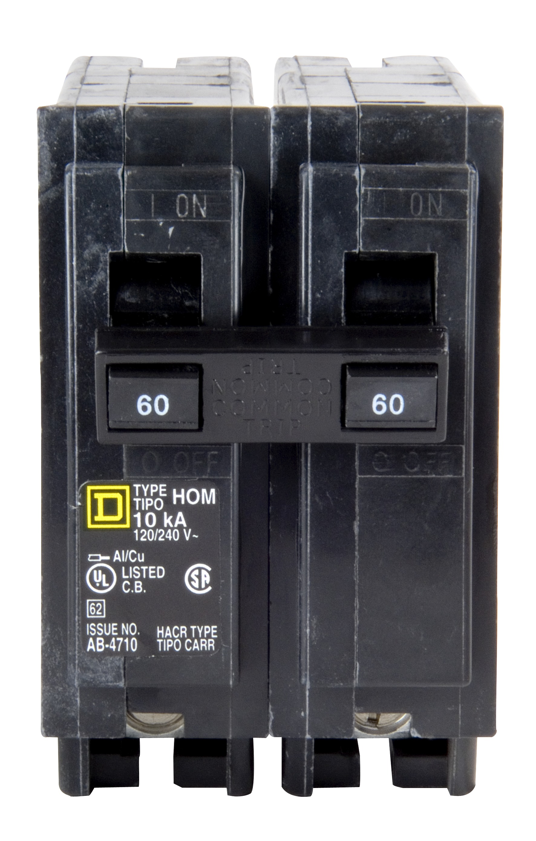 Square D Homeline 60 Amp Circuit Breaker Hom260 New